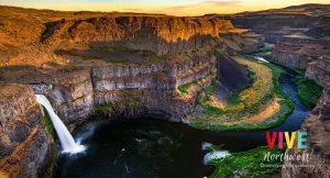 Lee más sobre el artículo La hermosura de las cataratas Palouse, en el sureste de Washington, te robará el aliento